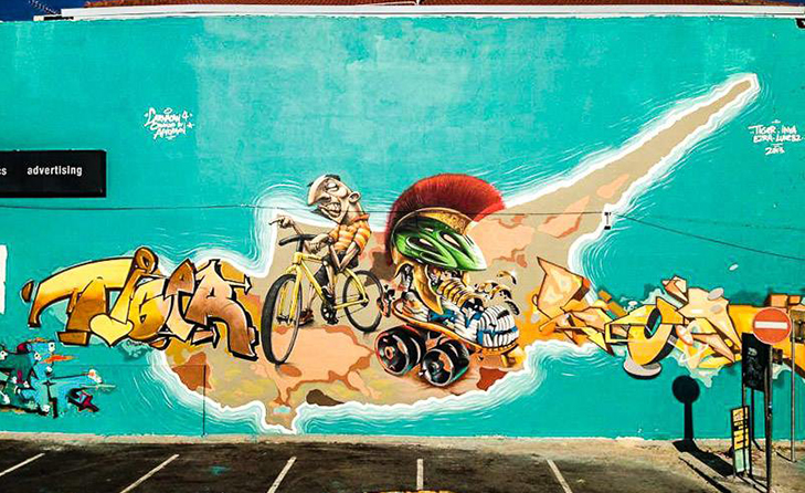 LARNACA work created as part of LarnaCan graffiti jam