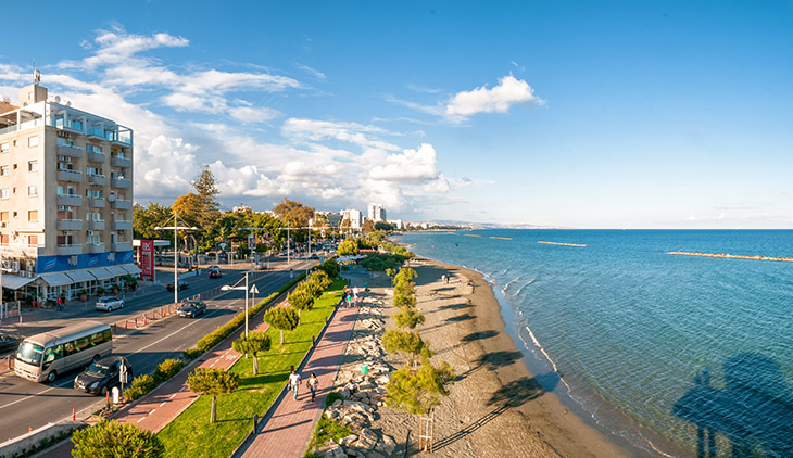 LIMASSOL CYPRUS - MAY 11 2014: Panoramic view of Limassol city.