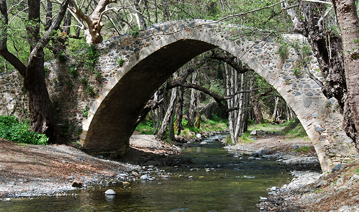 Ancient venetian bridge of Tzelefos in Cyprus