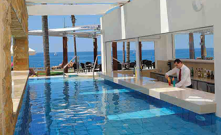 6 1 gorgeous infinity pools for a dip unlike the rest in paphos my cyprus insider for Nice hotels with swimming pool