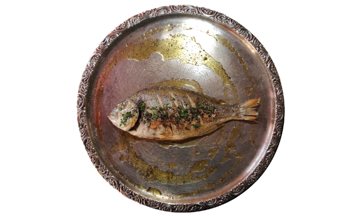 Baked sea bream with aromatic herbs my cyprus insider for Aromatic herb for fish